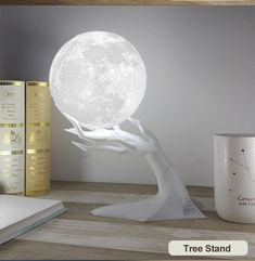 Apollo Box moonlight Moon lamp OFFWith this moon lamp you can take the moon with you. Let it brighten up your favorite room.Ultrasonic moon lamp humidifier essential oil diffuser Moonlight from Apollo Box Aroma Diffuser, Oil Diffuser, Aromatherapy Diffuser, Humidifier Essential Oils, Aroma Essential Oil, Cute Room Decor, Aesthetic Room Decor, Night Lamps, Home Living