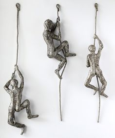 Contemporary art, Climbing man sculpture on the rope, Decorative art, wall hanging, abstract metal wall sculpture – art Paper Mache Sculpture, Metal Wall Sculpture, Abstract Sculpture, Sculpture Art, Sculpture Ideas, Tree Wall Art, Hanging Wall Art, Artwork Wall, 3d Wall Art