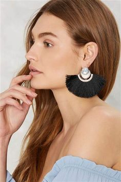 These fringe earrings look great with a cold-shoulder top or dress.