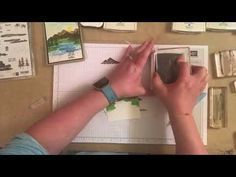 Stampin Up Waterfront Lake Card Tutorial - YouTube