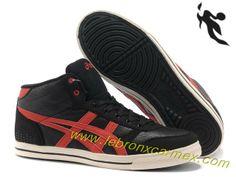 2013 Asics High Skateboard Shoes Black Red