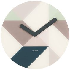 Karlsson Graphic Design 35cm Glass Wall Clock фото