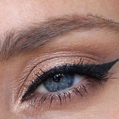Cat eye with a bit of gold pigment. Had fun with this one! Cat Eye, Selfies, Makeup Looks, Photo And Video, Eyes, Videos, Fun, Gold, Instagram