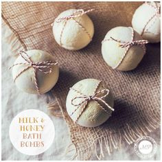Pamper yourself like a queen with these luxurious Milk & Honey Bath Bombs!