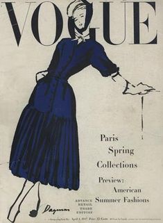 Publication Name | April 1 1947 Blue Aesthetic Pastel, Aesthetic Vintage, Aesthetic Black, Vintage Vogue Covers, Vogue Magazine Covers, Blue Poster, Thing 1, Vintage Magazines, Fashion Magazines