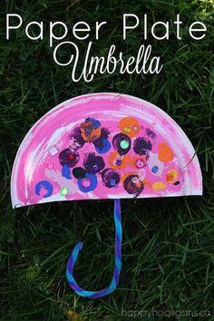 تطبيق عمل فني للحرف : ميم  م : مظلة