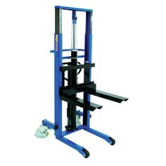 Manual Pallet Stacker 250kg Light Duty The Manual Pallet Stacker 250kg Britruck Light Duty is ideally suited where space is restricted or confined but a load of 250kg is required to be manoeuvred. The telescopic twin mast ensures it can pass through standard doorways offering a tall lift height of 1830mm.