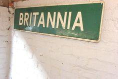 Antiques Atlas - A Large Mid 20thC Vintage Metal Sign 'Britannia'