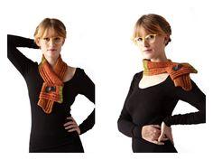 TørklædeBælte - scarf. Knitted and felted.