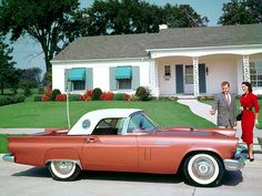 1957 Ford Thunderbird and their new home