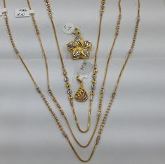 Isn't it wonderful that we have chains that can be worn with or without pendants . the possibilities are endless Gold Chain Design, Gold Jewellery Design, Gold Jewelry, Gold Pendant, Pendant Jewelry, Jewelry Necklaces, Gold Mangalsutra Designs, Gold Necklace Simple, Jewelry Patterns