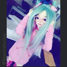 Teep spam!!! #lol  #MonstroDesigns #bjd #abjd #balljointeddoll #asianballjointeddoll #doll #dolls #minifee #msd #mnf #handmade #etsy #pink #mint #kawaii #cute #girly #girl #glasses