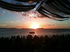 Watch Sunset at the Cafe Del Mar