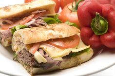 Garlic Bread Roast Beef Sandwich