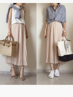 Skirt Outfits – Page 8949639119 – Lady Dress Designs Modest Fashion, Skirt Fashion, Hijab Fashion, Fashion Outfits, Mode Outfits, Chic Outfits, Spring Outfits, Pretty Outfits, Beautiful Outfits