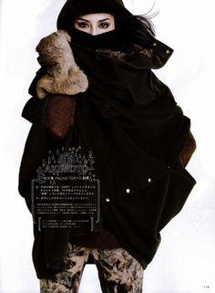 装苑 10月号 「AIR OF LOVE ZUCCA×LESLIE KEE」   Super Sonic Leslie Kee, Fur Coat, Womens Fashion, Model, Jackets, Photography, Down Jackets, Photograph, Fotografie