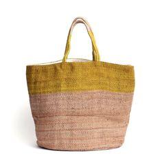 Hand Woven Jute Tote Bag Ochre - The Future Kept - 1