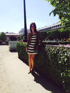 Look da Vic: Vestido Dolce & Gabbana, casaco vintage. Vic Ceridono | Dia de Beauté