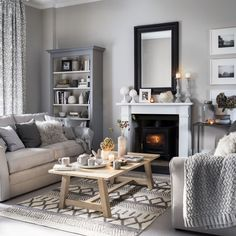 grey living room ideas for gorgeous and elegant spaces Pretty living room grey Ideal Home .ukPretty living room grey Ideal Home . Coastal Living Rooms, Home Living Room, Living Room Designs, Living Room Decor, Black And Cream Living Room, Beige And Grey Living Room, Dining Room, Dining Area, Room Color Schemes