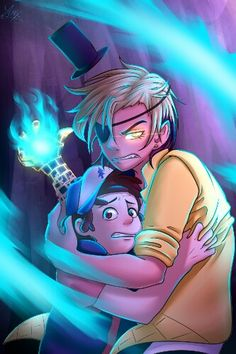 Bill protecting dipper. I think somewere Bill must care about him, even though he tries tot forget