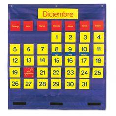 Bilingual Monthly Calendar Pocket Chart, LER2210