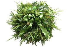 "18"" Sage & Eucalyptus Wreath, Dried"