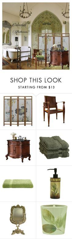 """Colonial Interior"" by nicolevalents ❤ liked on Polyvore featuring interior, interiors, interior design, home, home decor, interior decorating, Authentic Models and Ronbow"