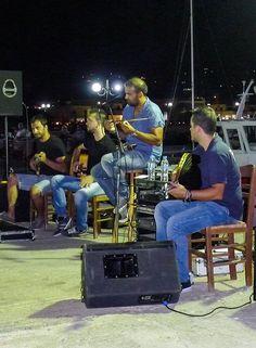 Bands playing waterside at Villea Village. #Greekmusic #greekdancing #greece #crete