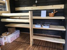 Salvos-Sauna, Asuntomessut 2016 Seinäjoki. Bathroom Cleaning, Hygge, Sweet Home, Saunas, Shelves, Laundry, Google, Summer, Home Decor