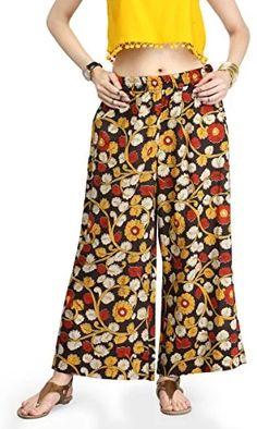6fade60ae3 Varanga Women s Straight Pants (KFF-VAR21118-S Multicoloured Small)  Amazon.in   Clothing   Accessories  multicoloured palazzo. Fashion Dress