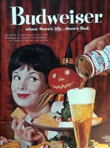 Vintage Halloween Budweiser ad