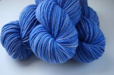 Hand Dyed Merino Wool Yarn Worsted Weight Single Ply by OnTheRound, $18.00