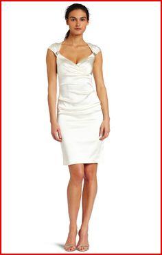 pretty Elegant White Cocktail Dress