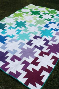 Sparkler Modern Quilt Pattern by Lee Heinrich, Multiple Sizes - Click Image to Close