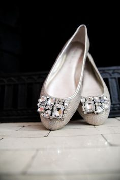 *embellish shoes with bling