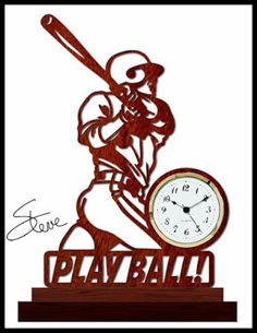 Baseball Clock Scroll Saw Pattern. Hour meter finished.
