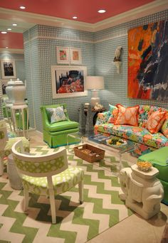 Lilly Pulitzer for Lee Jofa at the D&D Building in NYC.