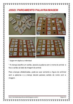 Materiais produzidos adaptados pela professora da sala de recursos mu… Learn Portuguese, Special Education, Periodic Table, Calendar, Diagram, Learning, Holiday Decor, School, Reading Activities