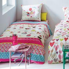 Conjunto de cama menina, capa de edredon + fronha my delicious cupcake La Redoute Interieurs | La Redoute