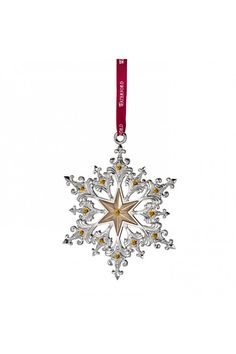 Waterford  2014 Silver Annual Snowflake Ornament