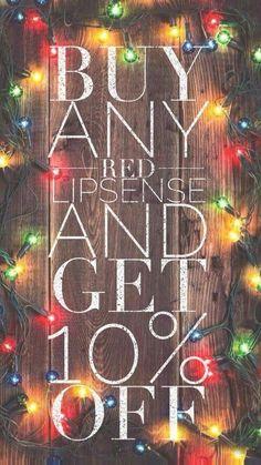 Buy a red LipSense, and get 10% off! #lipsense #deals #discounts https://www.facebook.com/groups/SuperWONDERfulLips/