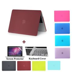 Fashion frosted matte laptop case for Apple macbook 11 12 13 15 inch Air Pro Retina cover bag new model - STORECHARGER Macbook Air Pro, Macbook Apple, Macbook Air 11 Inch, Macbook 15, Laptop Accessories, Laptop Case, New Model, Brand Names, Iphone