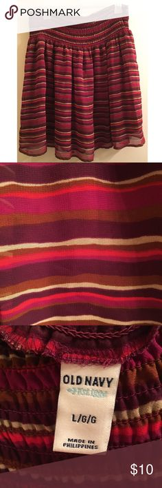 Fall Striped Skirt 😍 This is in excellent condition! Old Navy Size Large. It's so cute with tights, boots, and a sweater! Skirts
