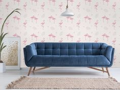 Sofa, Couch, Wall Treatments, Love Seat, Vintage, Boutique, Wallpaper, Furniture, Home Decor