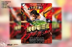 House Party Flyer by Osky on @creativemarket