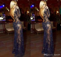 Free shipping, $164.92/Piece:buy wholesale Sexy See Through 2014 Black Lace Backless Long Sleeve Evening Dresses Sheer Beaded Celebrity Pageant Party Prom Gowns Custom Dress from DHgate.com,get worldwide delivery and buyer protection service.