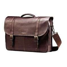 Samsonite Colombian Leather Flap-Over Messenger Bag, Espr...