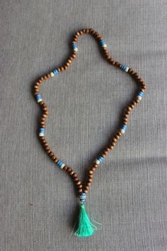 Globetrotter Beaded Tassel Necklace by shopjustpeachy on Etsy, $22.00