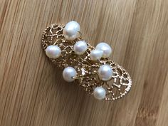 The product Mimosa gold coloured ring  with real pearls, large is sold by Crea-tiff bijoux in our Tictail store.  Tictail lets you create a beautiful online store for free - tictail.com
