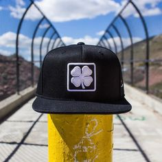 The black Lucky Square snapback from Black Clover.